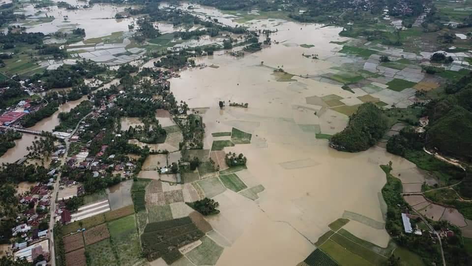 Banjir Landa Nagari Taram, 218 Rumah  Kepala Keluarga Terendam Air