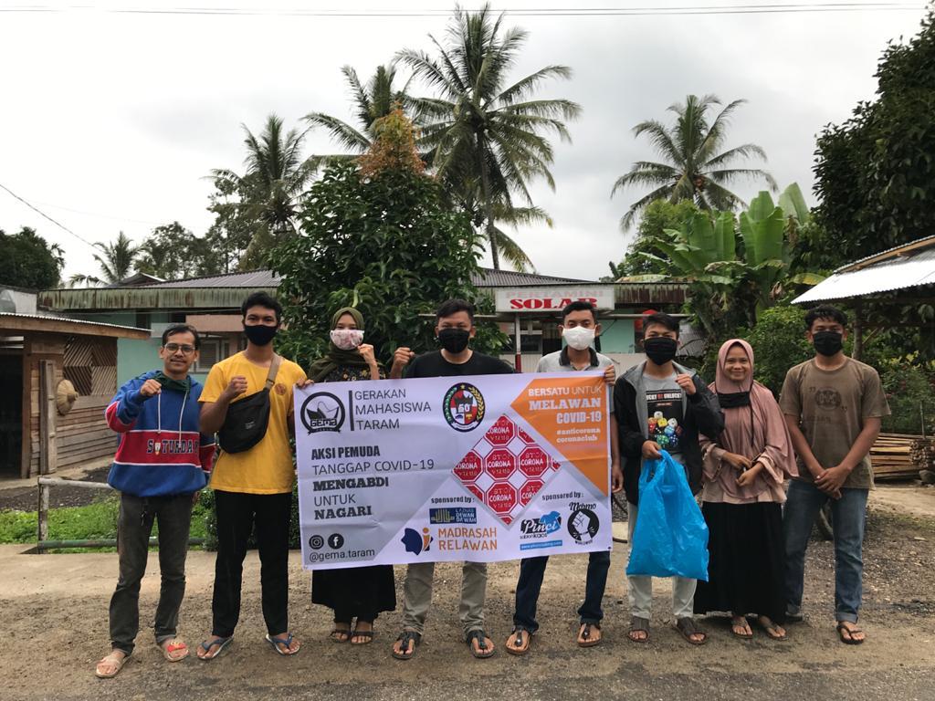 Aksi Nyata Berbagi Masker Gratis, GEMA Taram Diapresiasi Warga