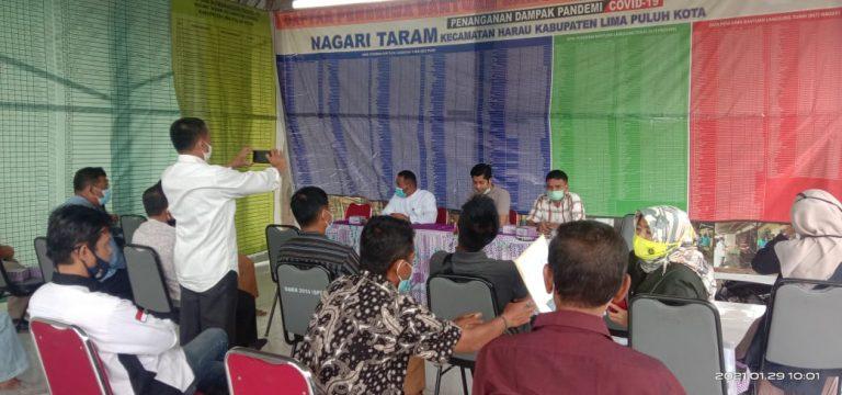 Sukses Kegiatan Dana Desa, Nagari Taram Gelar Musyawarah Serah Terima Kegiatan Dana Desa 2020